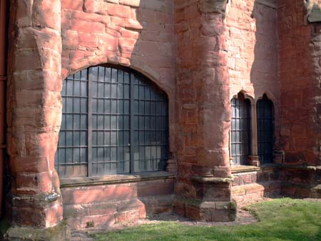 Arch in east side of cloister