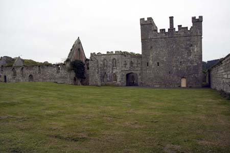 Tower and later Hunting Lodge from north side