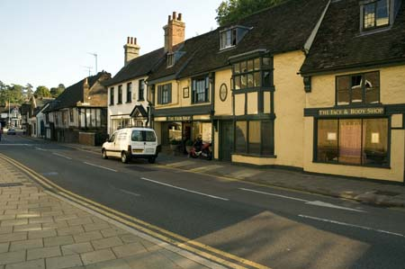 Street outside the priory