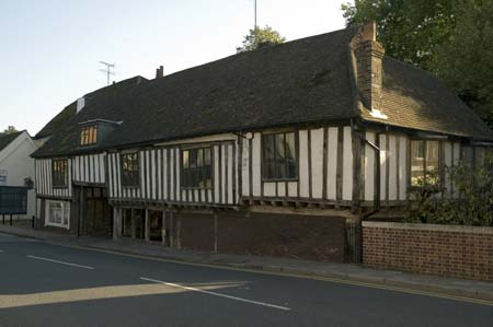 Half-timbered sixteenth century house near priory