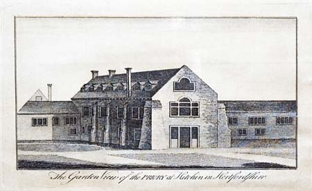 Early drawing (17th cent) of the priory after its conversion to a country house