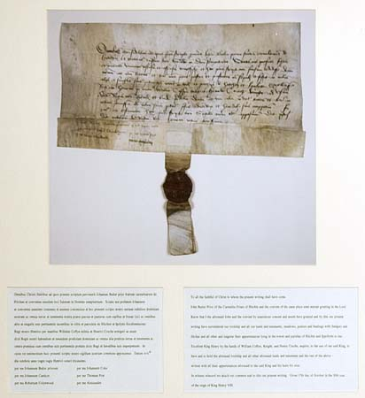 The prior, John Butler, and community consign the property to the king, 17 Oct 1538